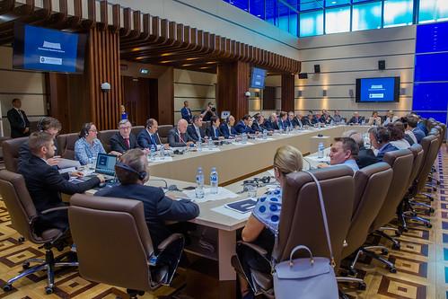 02.08.2018 Întrevederea preeșdintelui Parlamentului, Andrian Candu, cu ambasadorii acreditați în Moldova.