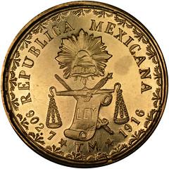 1916 Mexico Gold 60 Pesos Oaxaco reverse