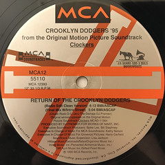 CROOKLYN DODGERS '95:RETURN OF THE CROOKLYN DODGERS(LABEL SIDE-A)