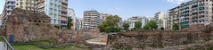 Panorama shot of the Galerius Palace Complex in Thessaloniki