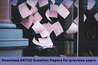 ANTHE Question Paper 2018, 2017, 2016, 2015 - Download PDF