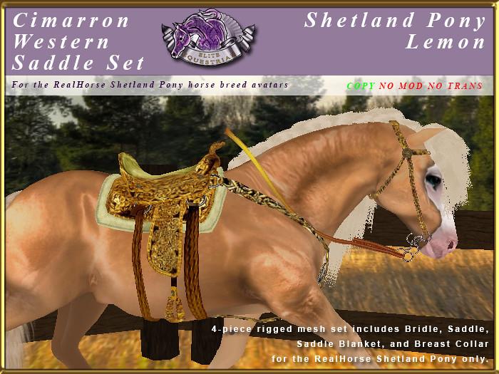 E-RH-Shetland-CimarronSaddleSet-Lemon - TeleportHub.com Live!