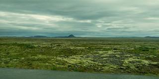 Entre l'aéroport et Reykjavik