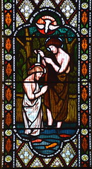 Baptism of Christ (Henry Holiday for Powell & Sons, 1864)
