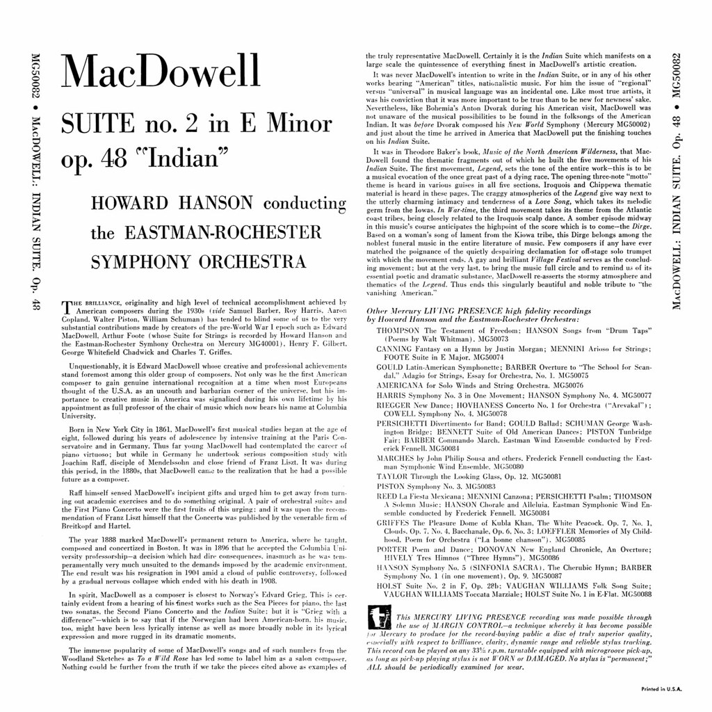 Edward MacDowell - Second Indian Suite