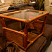 Wicker coffee table with glass top E40