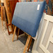 Blue fabric headboard E30