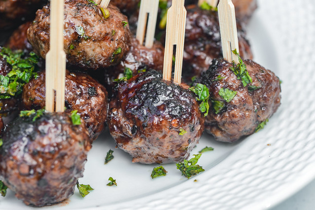 Lamb Meatballs with Pomegranate Glaze
