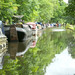 Narrowboats at Hebden Bridge.
