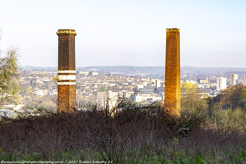 Siddal Chimneys and Halifax.