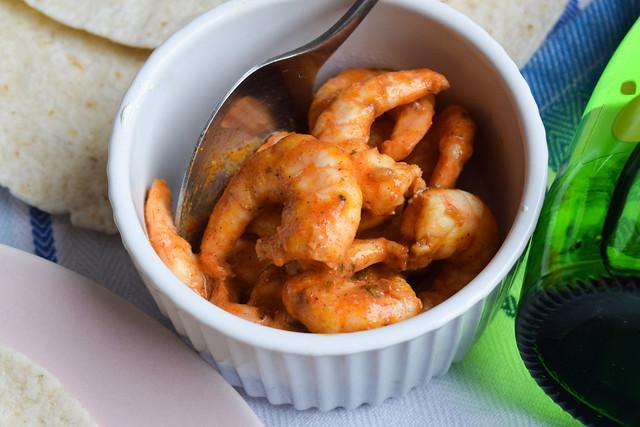 Cajun Prawns for Tacos #tacos #mexican #cajun #prawn #shrimp #dinner #avocado #corn #sweetcorn