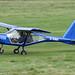 G-VINA - 2013 build Aeroprakt A22-L Foxbat, arriving on Runway 26L at Barton, part of the LAA 70th Anniversary Tour
