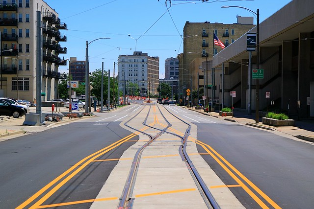 Milwaukee Main Line Streetcar Tracks Complete