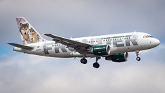 Airbus A319-112 N941FR Frontier Airlines - Lobo the Wolf Livery