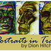 """Mon, 08/13/2018 - 10:48 - A sample illustration from Dion Hitchings """"Portraits in Trash"""" exhibit"""