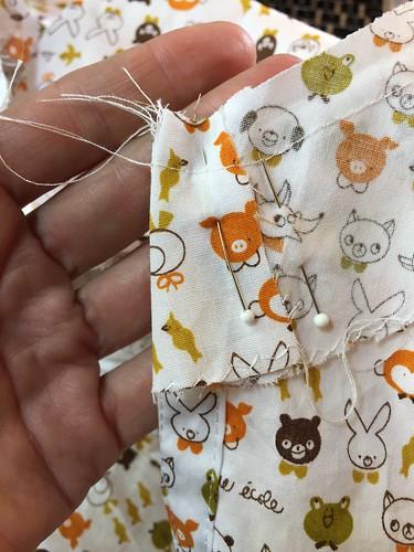 kawaii fabric summer shirt facing sewing woven cotton