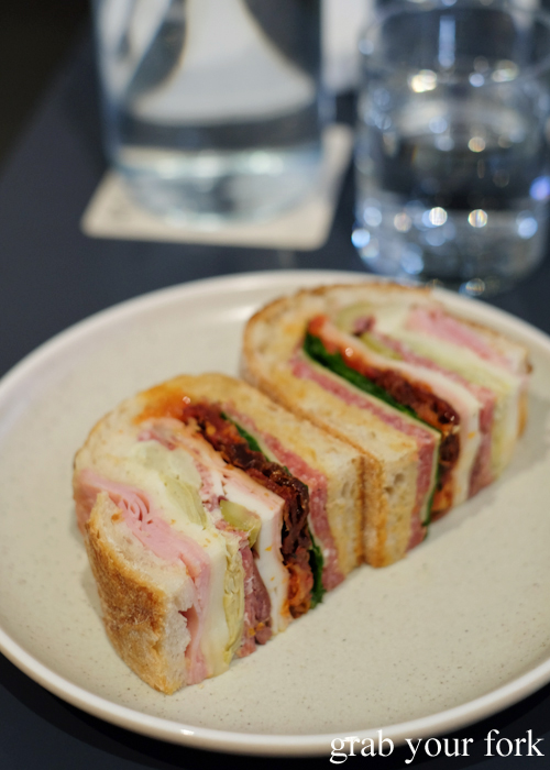 Muffuletta pressed sandwich at A1 Canteen by Clayton Wells in Chippendale Sydney