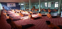 Celebration of International Yoga Day at VKV, Ziro