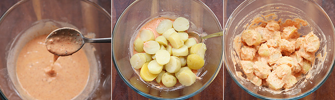 How to make baby potato manchurian recipe - Step4