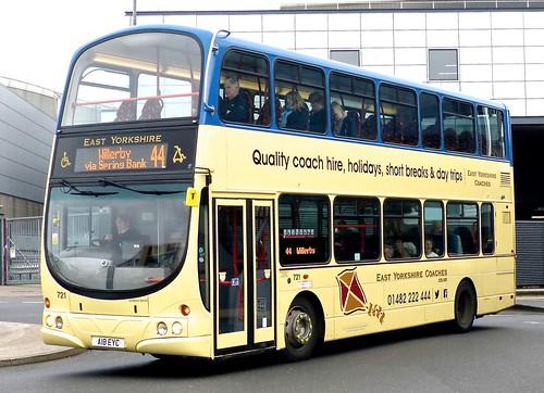 A18 EYC 'East Yorkshire Motor Services' No. 721 'East Yorkshire Coaches'. Volvo B9TL / Wright Gemini Eclipse on 'Dennis Basford's railsroadsrunways.blogspot.co.uk'