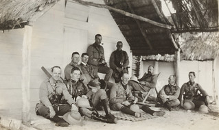 Colonel Holmes and the Officers at Palm Island, F. S. Burnell, State Library of New South Wales PXA 2165