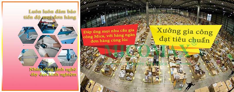 xưởng gia công Mica lớn nhất Hà Nội