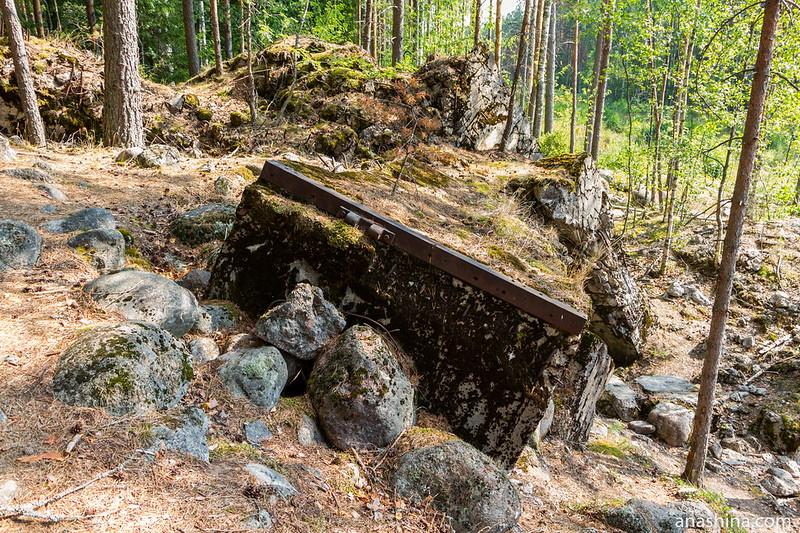 Развалины ДОТа №6 укрепрайона Инкиля (Ink 6)