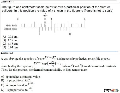 KVPY Mock Test Physics Questions
