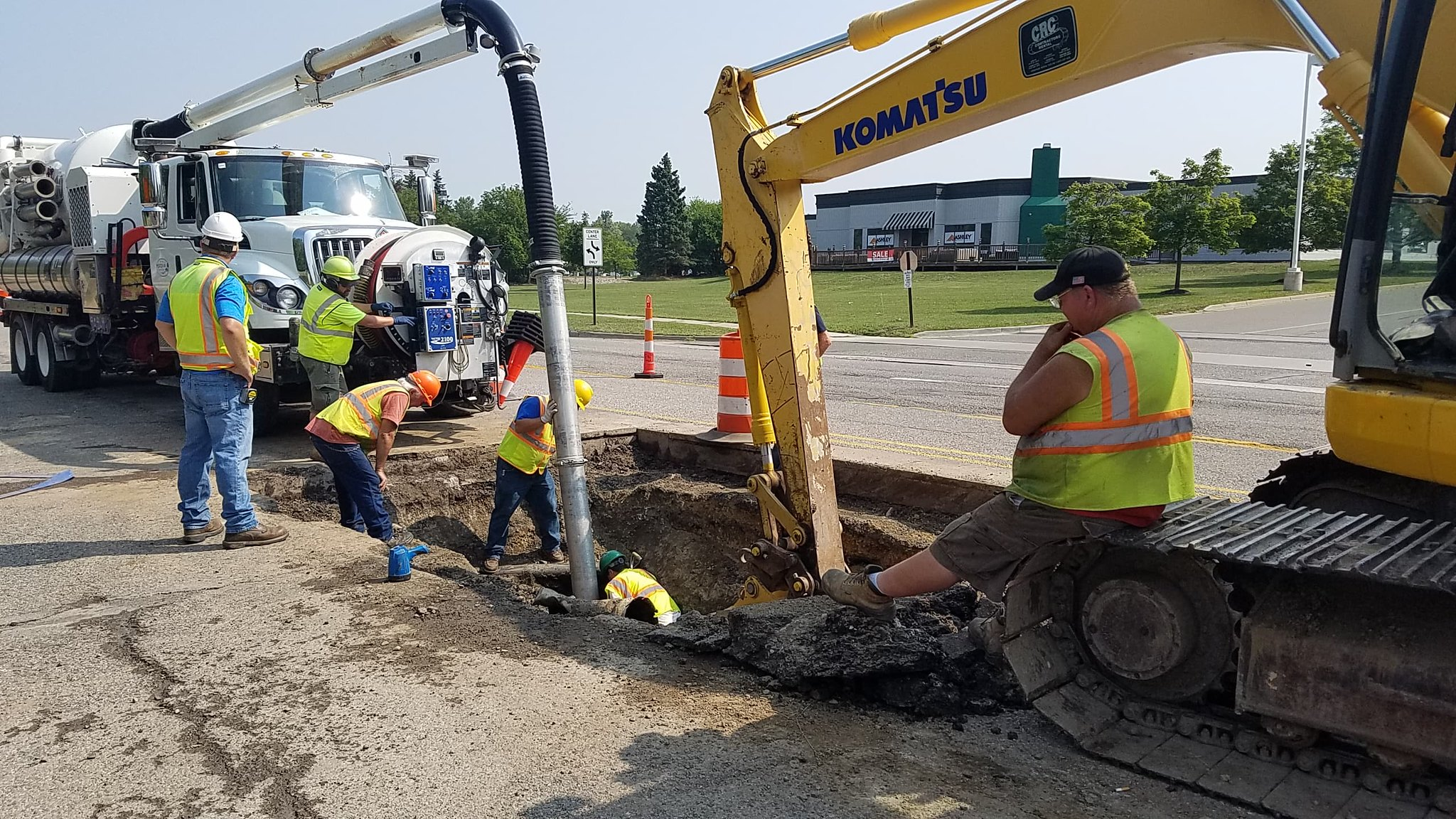 Pipe Collapses Under Okemos Road
