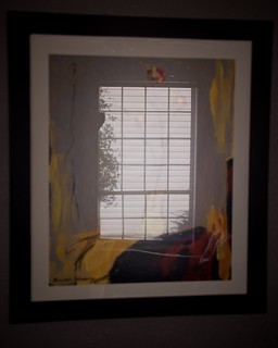 Framed Reflection with Silhouette
