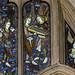 Warwick, St Mary's church, Beauchamp chapel window detail