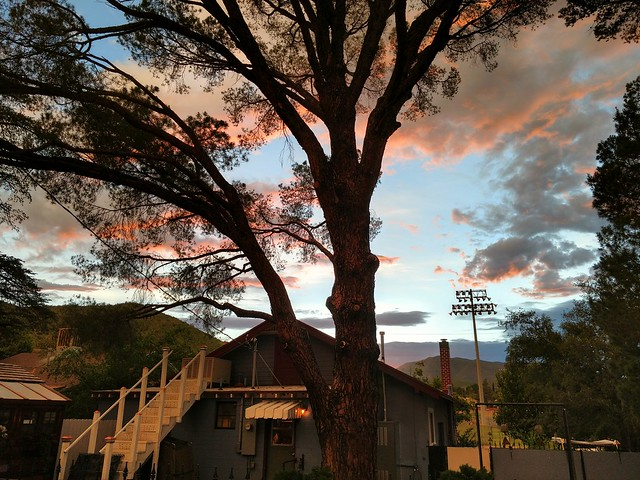 Sunset, in the backyard.  Warren AZ. #bisbee #motoz #sunset