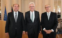 Eberhard Stilz als Präsident des Verfassungsgerichtshofs verabschiedet