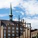 Hafengebäude mit Turm in Rostock