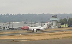 Norwegian Boeing 737 MAX 8 LN-BKB delivery flight Boeing field Airport