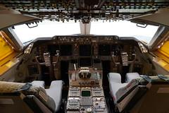 Boeing 747-400 Cockpit at the Delta Flight Museum Atlanta Georgia