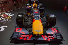 Red Bull racing car at the F1 2018 booth