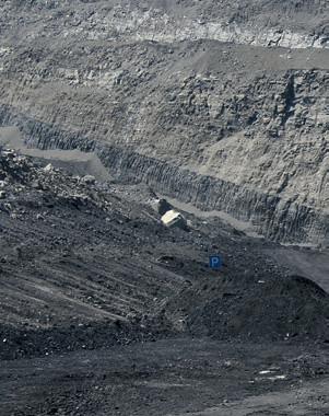 добыча угля на карьере