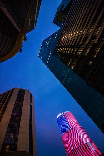 miami downtown forida travel dawn skyscrapers city
