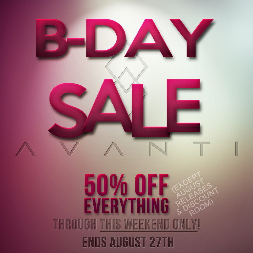 Avanti Birthday Sale 2018!