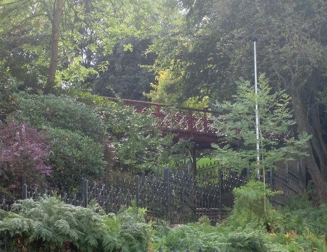 An Iron Pedestrian Bridge in Rochdale