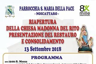 Noicattaro. riapertura madonna del rito front