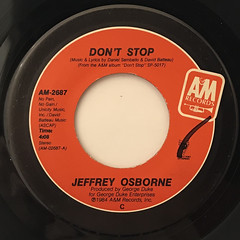 JEFFEREY OSBORNE:DON'T STOP(LABEL SIDE-A)