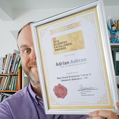 modelling (another) global award certificate