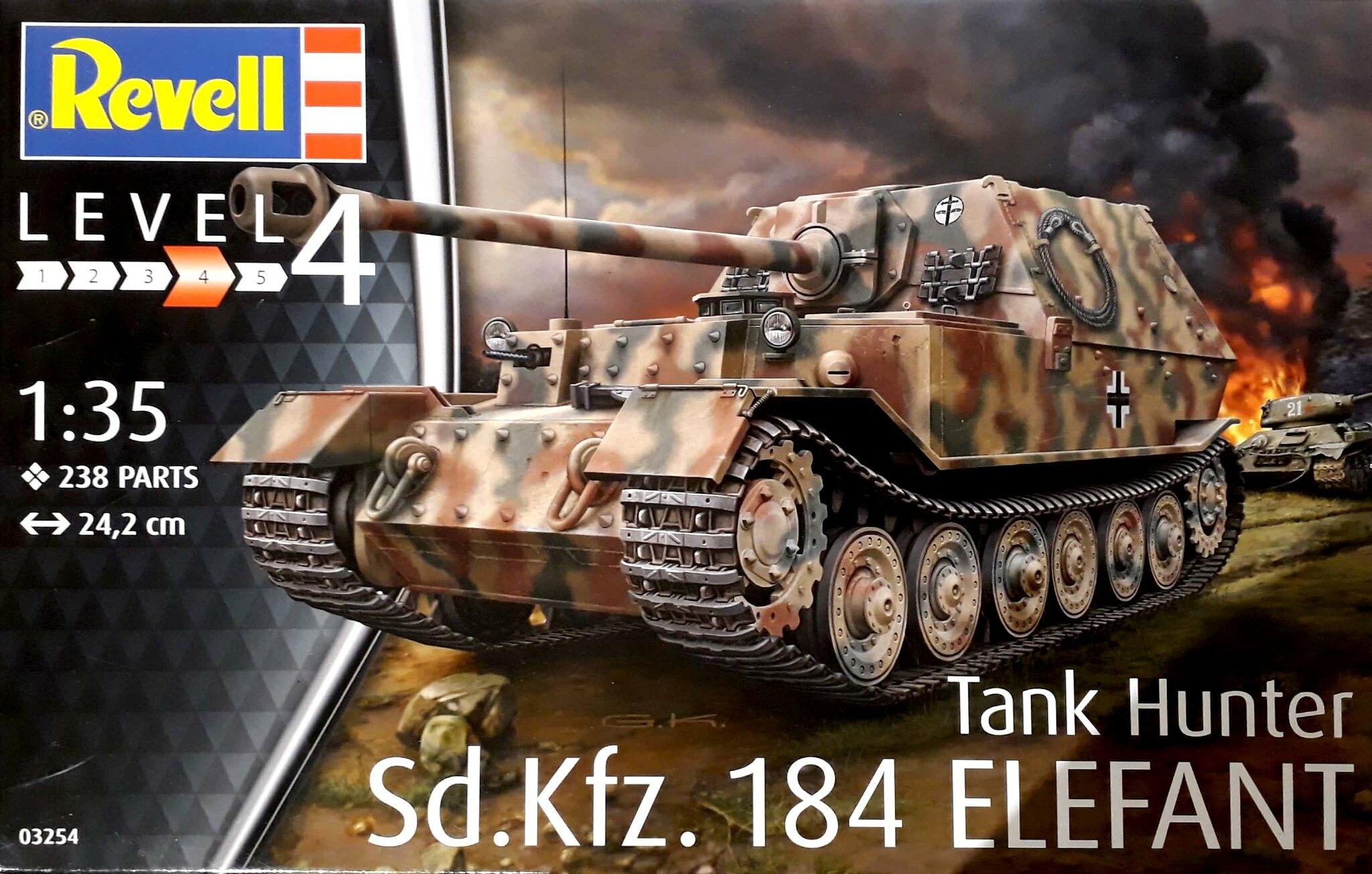 Revell Sd.Kfz.184 Tank Hunter ELEFANT 1:35 Revell 03254   .