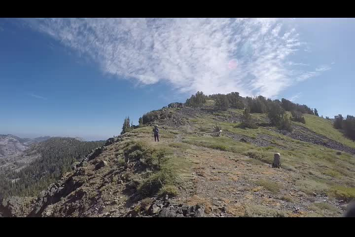 2405 GoPro 360 degree panorama video from Dicks Pass on the Pacific Crest Trail