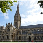 Quick pic of Salisbury Catherial while passing by.