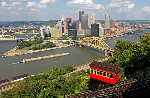 pittsburgh pittsburghskyline urbanscenes urban monongahelariver barges rivers water waterways duquesneincline city cityscapes cityscenes