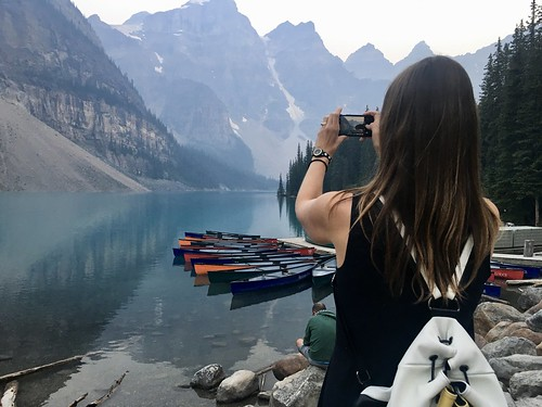 Me, taking photos of Moraine Lake