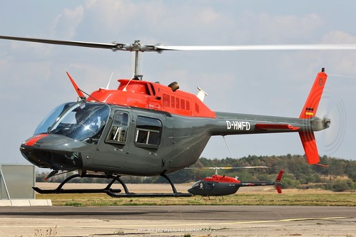 Motorflug Bell 206 D-HMFD @ Halle-Oppin